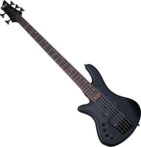 Schecter Stiletto Stealth-5 Left-Handed Electric Bass Satin Black