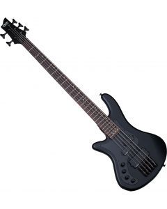 Schecter Stiletto Stealth-5 Left-Handed Electric Bass Satin Black  SCHECTER2527