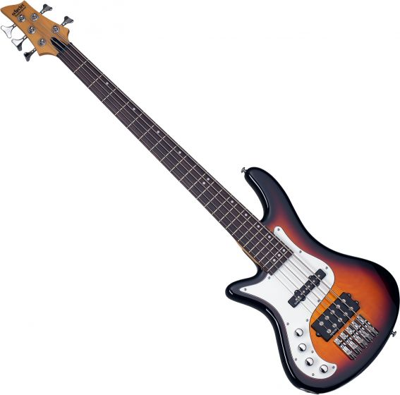 Schecter Stiletto Vintage-5 Left-Handed Electric Bass 3-Tone Sunburst