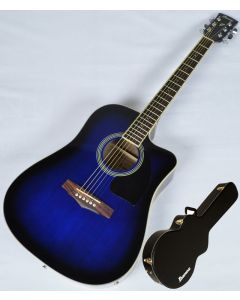 Ibanez PF15ECEWC-TBS PF Series Acoustic Guitar in Transparent Blue Sunburst High Gloss Finish SA150300754 PF15ECEWCTBS.B 0754