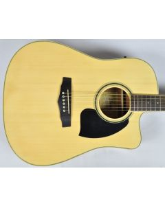 Ibanez PF15ECEWC-NT PF Series Acoustic Guitar in Natural High Gloss Finish SA141202029