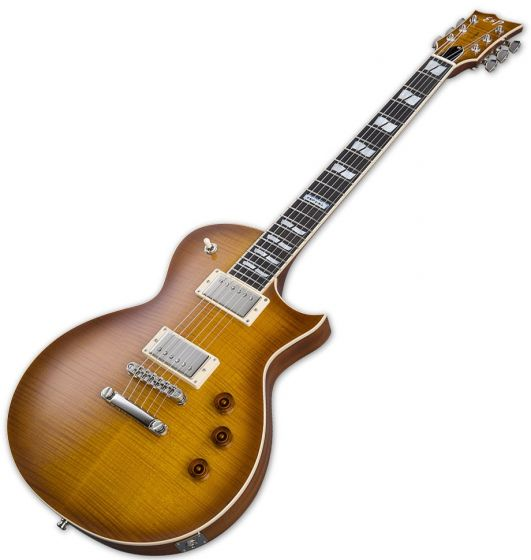 ESP USA Eclipse Electric Guitar in Tea Sunburst