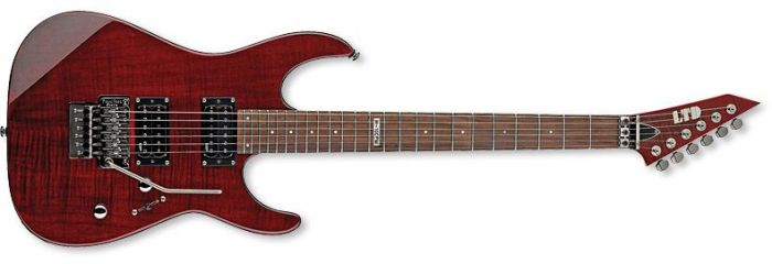 ESP LTD M-100FM Guitar in See-Through Black Cherry