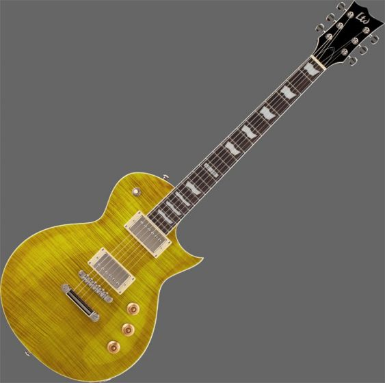 ESP LTD EC-256FM Guitar in Lemon Drop Finish