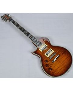 ESP LTD Deluxe EC-1000FM Lefty Electric Guitar in Amber Sunburst B-Stock LEC1000ASBLH.B