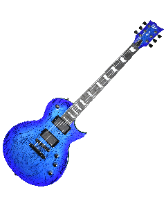 ESP LTD Deluxe EC-1000 Electric Guitar in Swirl Blue Finish LXEC1000SWB