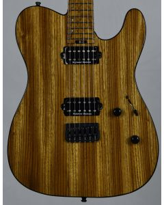 ESP USA TE-II Zebrawood Limited Edition Electric Guitar in Natural Gloss