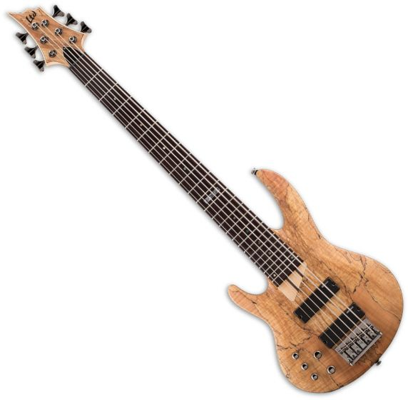 ESP LTD B-206SM Left-Handed Electric Bass in Natural Satin