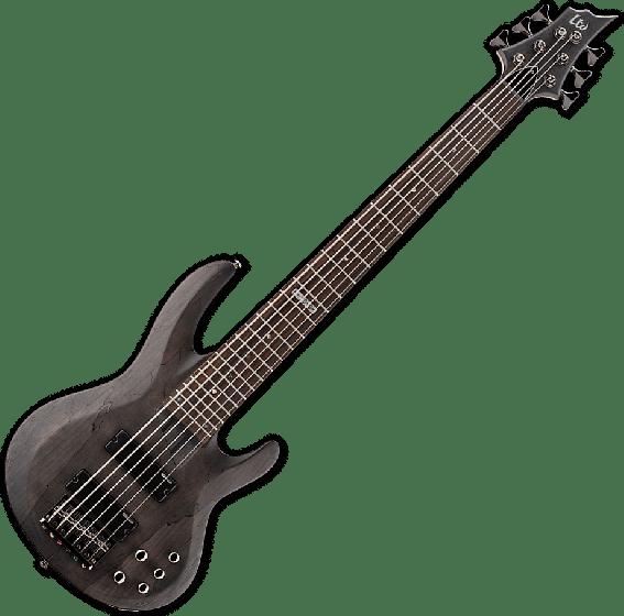 ESP LTD B-206SM Electric Bass in See Thru Black Satin B-Stock