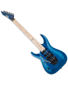 ESP LTD MH-103QM Left Handed Guitar in See-Through Blue B-Stock LMH103QMSTBLH.B