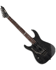 ESP LTD M-100FM Left Handed Electric Guitar in See-Through Black B-Stock LM100FMSTBLKLH.B
