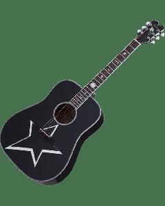 Schecter Robert Smith RS-1000 Busker Acoustic Guitar Gloss Black  SCHECTER283