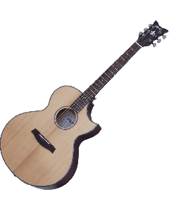Schecter Orleans Stage Acoustic Guitar in Natural Satin/Vampire Red Satin Back Finish SCHECTER3711