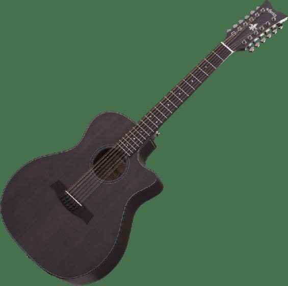 Schecter Orleans Studio-12 Acoustic Guitar in Satin See Thru Black Finish