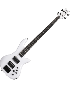 Schecter Stiletto Stage-4 Electric Bass Gloss White  SCHECTER2480