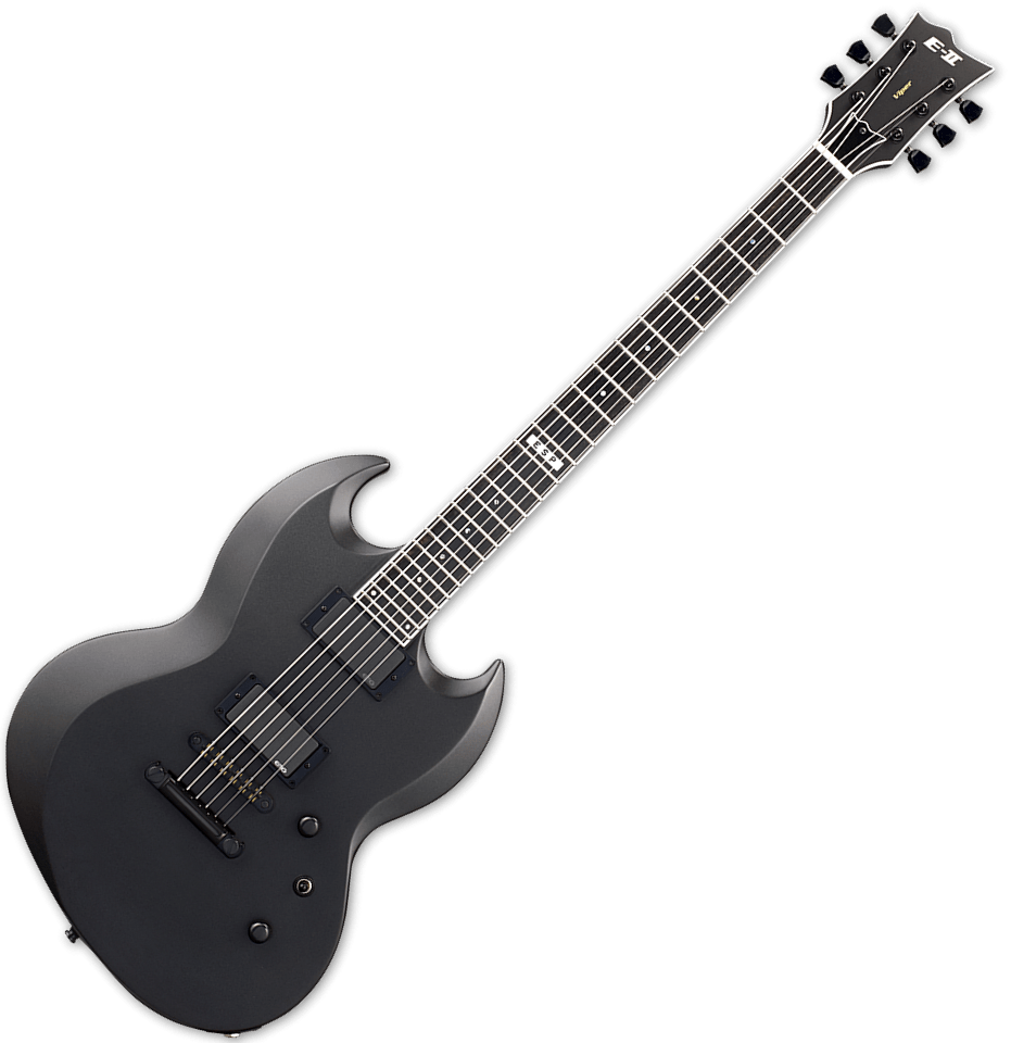 esp e ii viper baritone electric guitar in charcoal. Black Bedroom Furniture Sets. Home Design Ideas