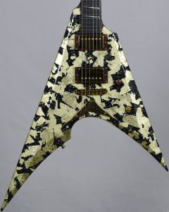 ESP Exhibition Limited Arrow-NT Gold Lacquer Electric Guitar
