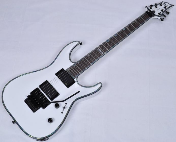 ESP LTD Deluxe H-1001FR Electric Guitar in Snow White