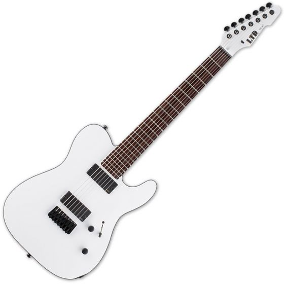 ESP LTD TE-407 Guitar in Snow White Satin Finish