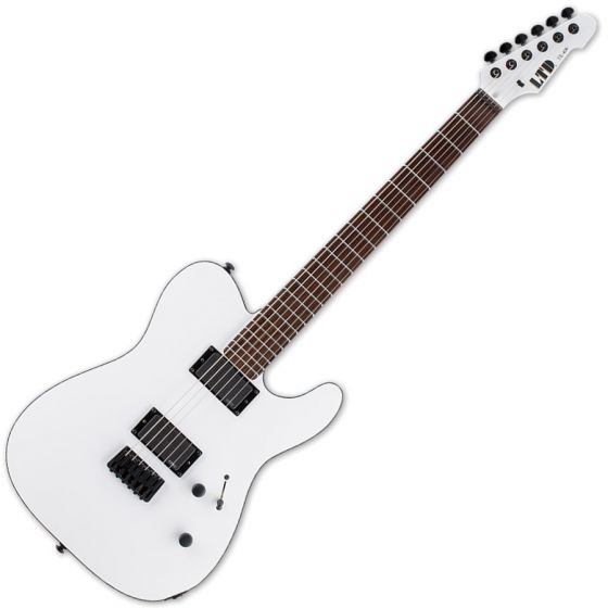 ESP LTD TE-406 Guitar in Snow White Satin Finish