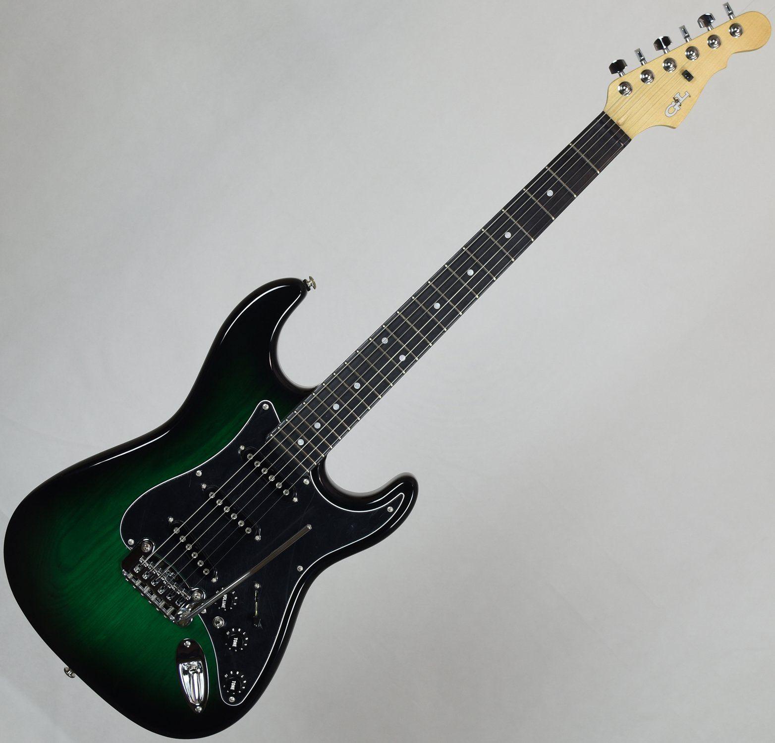 g l usa s 500 ebony fingerboard electric guitar greenburst. Black Bedroom Furniture Sets. Home Design Ideas