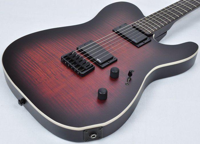 ESP LTD TE-406 FM Electric Guitar in Dark Brown Sunburst Satin