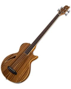 ESP LTD TL-4Z Fretless Semi-Hollow Electric Bass Natural Gloss LTL4ZFLNAT