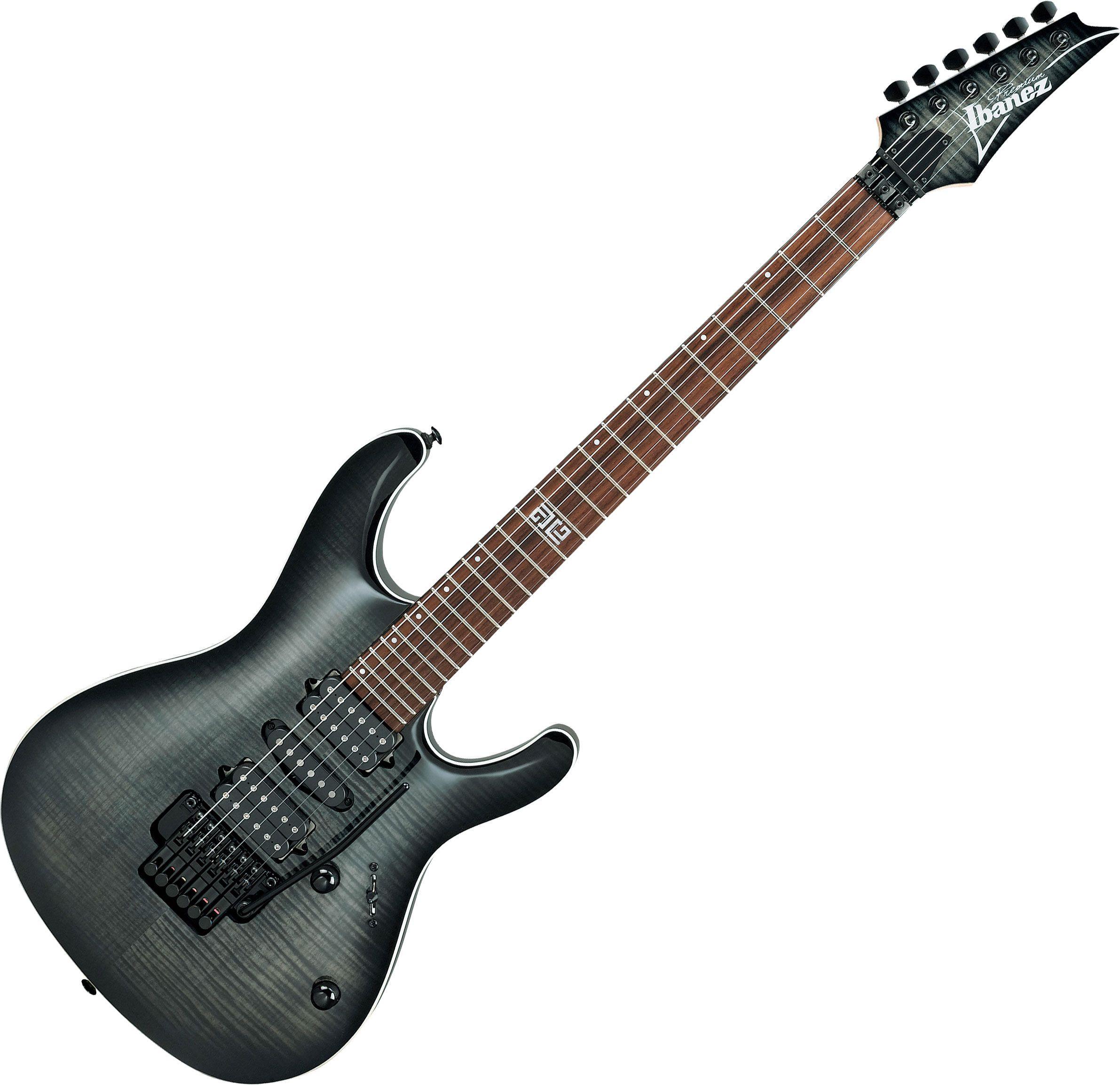 ibanez kiko loureiro signature kiko10bp electric guitar transparent gray burst. Black Bedroom Furniture Sets. Home Design Ideas