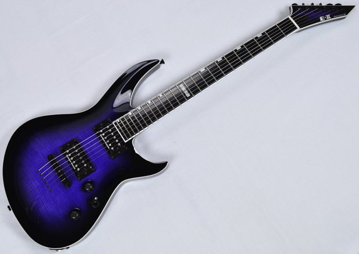 ESP E-II Horizon-III FM RDB Electric Guitar in Reindeer Blue B-stock