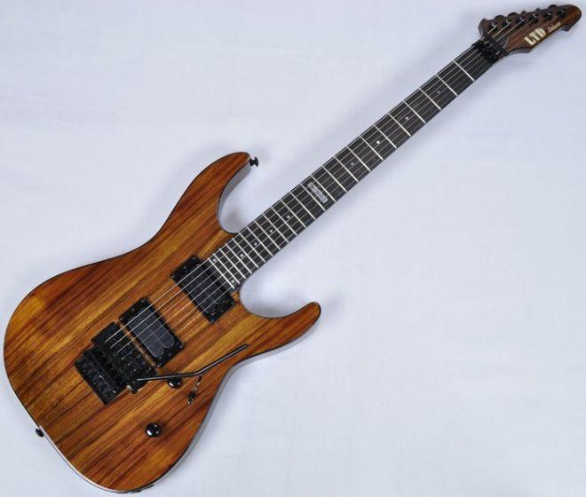 ESP LTD Deluxe M-1000 KOA Top Guitar in Natural