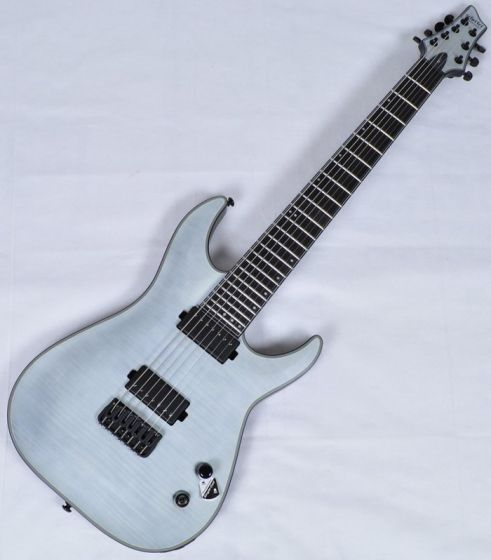 Schecter KM-7 Keith Merrow Electric Guitar in Trans White Satin