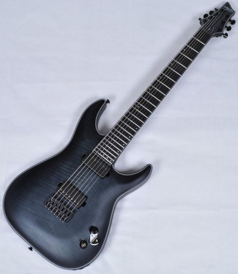 Schecter KM-7 Keith Merrow Electric Guitar in Trans Black Burst Satin