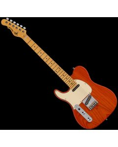 G&L Tribute ASAT Classic Left-Handed Electric Guitar Clear Orange TI-ACL-121L46M73