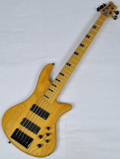 Schecter Stiletto-5 Session Electric Bass in Aged Natural Satin
