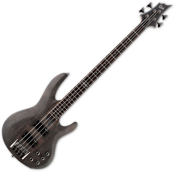 ESP LTD B-204SM Electric Bass in See Thru Black Satin B-Stock