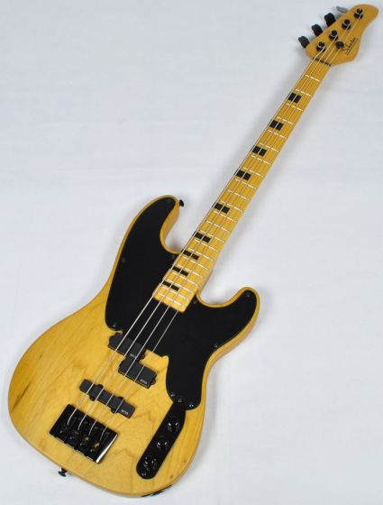Schecter Model-T Session Electric Bass in Aged Natural Satin