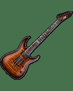 ESP LTD MH-401NT QM Electric Guitar in Dark Brown Sunburst B-Stock LMH401NTQMDBSB.B