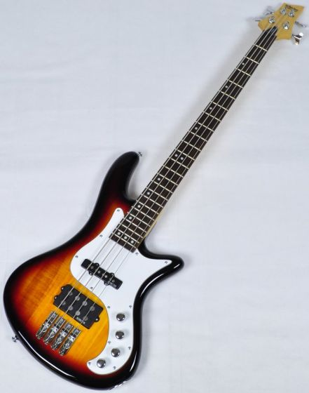 Schecter Stiletto Vintage-4 Electric Bass in 3-Tone Sunburst