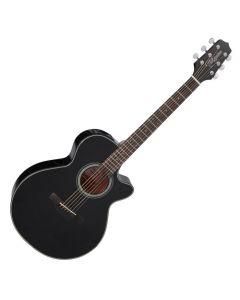 Takamine GF15CE-BLK G-Series G15 Cutaway Acoustic Electric Guitar Black B-Stock TAKGF15CEBLK.B