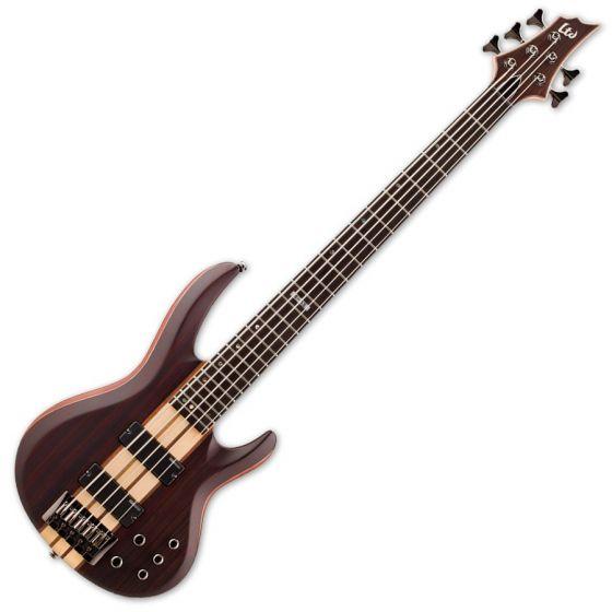 ESP LTD B-5E Bass in Natural Stain