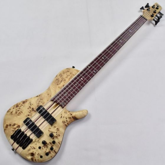 Ibanez SRSC805-NTF Ibanez Bass Workshop Series 5 String Electric Bass in Natural Flat Finish