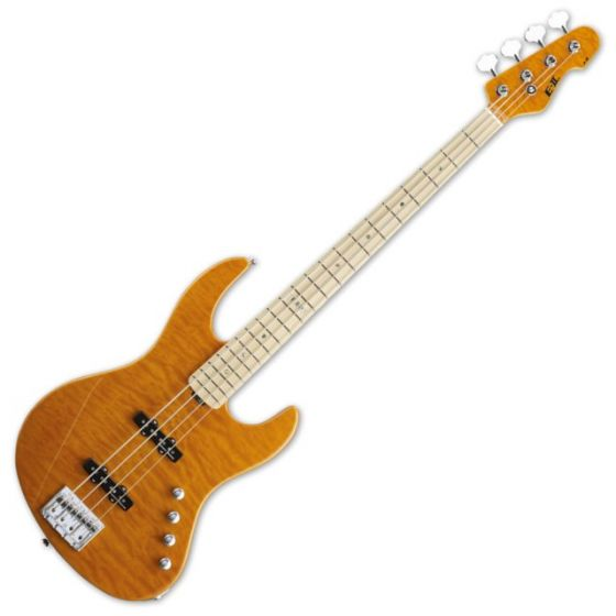 ESP E-II J-4QM AMB Amber Electric Bass Guitar