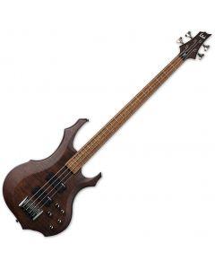 ESP LTD F-204FM Electric Bass Walnut Brown Satin LF204FMWBS
