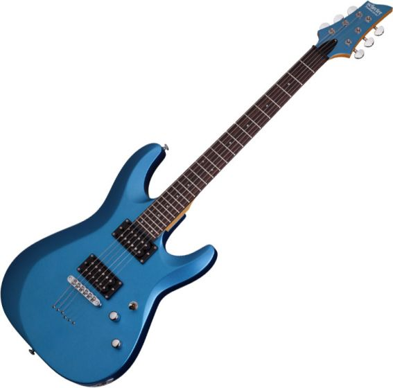 Schecter C-6 Deluxe Electric Guitar Satin Metallic Light Blue