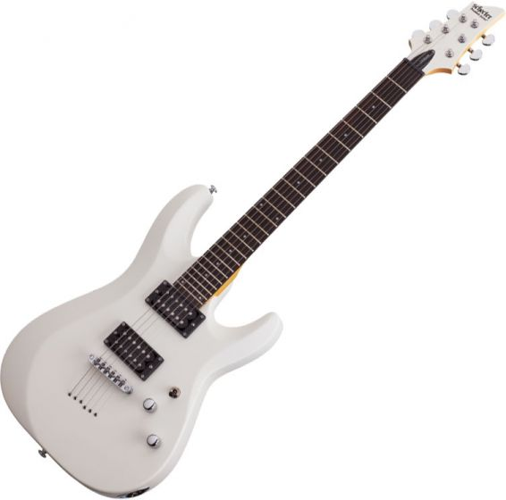 Schecter C-6 Deluxe Electric Guitar Satin White