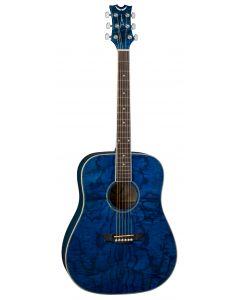 Dean AXS Dreadnought Acoustic Guitar Quilt Ash Trans Blue AX DQA TBL AX DQA TBL