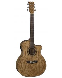 Dean Exotica Quilt Ash Acoustic Electric Guitar Gloss Natural EQA GN EQA GN