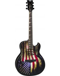 Dean Mako Dave Mustaine Acoustic Electric Guitar USA Flag MAKO GLORY MAKO GLORY