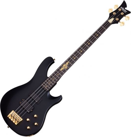 Schecter Signature Johnny Christ Electric Bass in Satin Black Finish