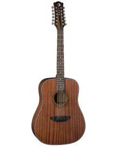 Luna Gypsy Dreadnought Acoustic Guitar 12 String Mahogany GYP D12 MAH GYP D12 MAH